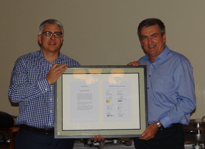 Dominic Nolan (ASMC CEO) and John Pratt (ASMC Chair)