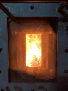 Burning renewable bagasse