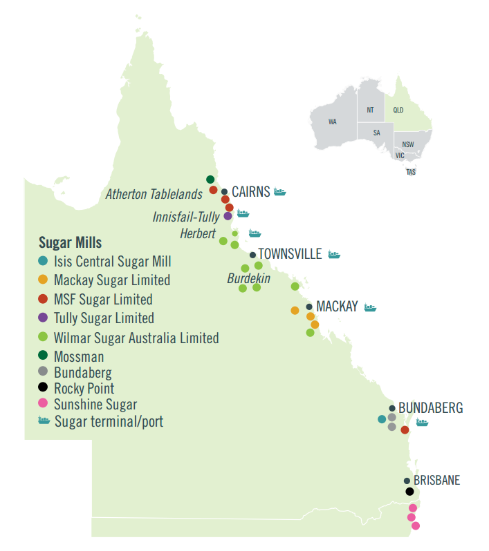 Sugar mill map